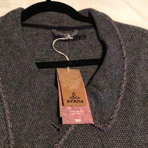 Prana wool pullover sweater/jacket
